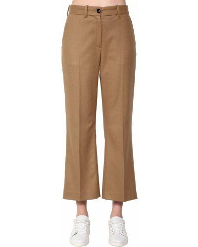 Шерстяные брюки - коричневые Rag&bone