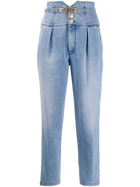 Прямые джинсы укороченные розовый Pinko