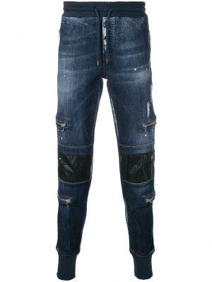 Синие джинсы с карманами Philipp Plein