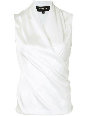 Блузка без рукавов - белая Paule Ka