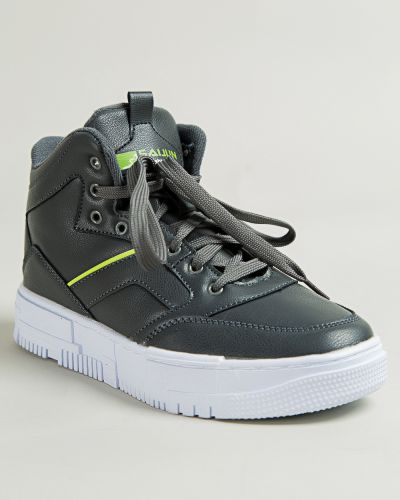 Брендовые серые ботинки Saijun