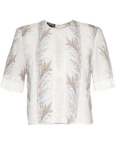 Блузка с вышивкой шелковая Giambattista Valli