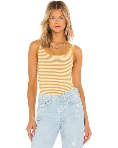 Деловое джинсовое белое боди Yummie