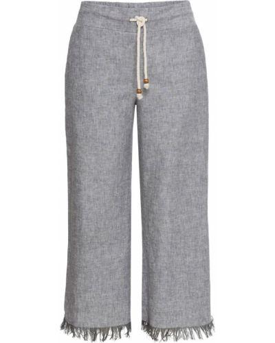 Свободные брюки серые Bonprix