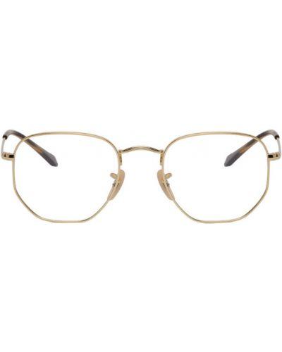 Złote czarne okulary Ray-ban