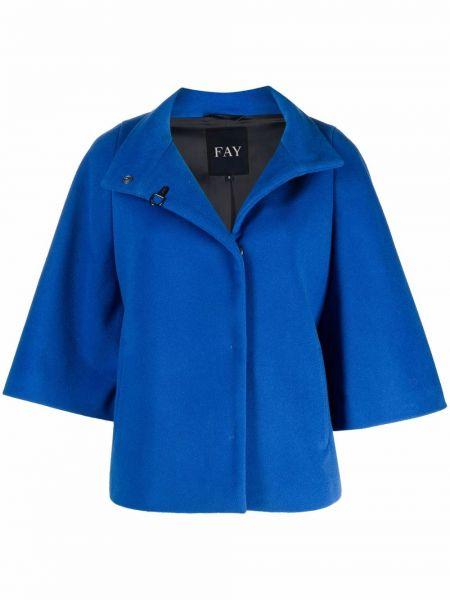 Кашемировая куртка - синяя Fay