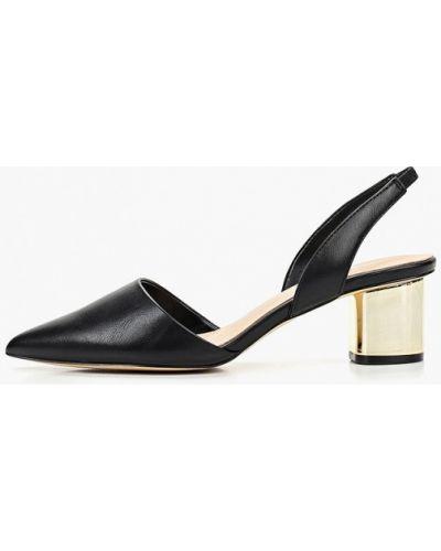 Туфли на каблуке кожаные с открытой пяткой Aldo