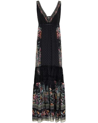 Шифоновое платье макси - черное Camilla