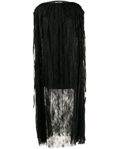 Платье мини с цветочным принтом плиссированное Mm6 Maison Margiela