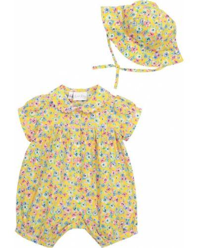 Żółty kombinezon bawełniany Rachel Riley