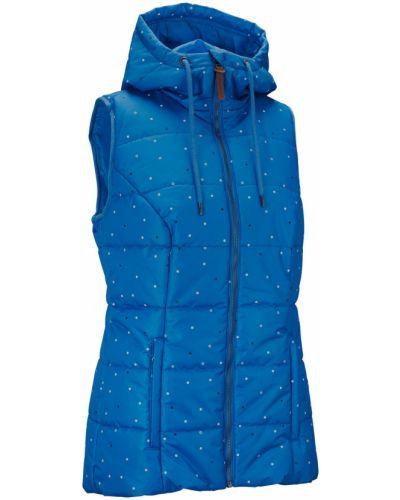 Синяя жилетка на молнии с карманами Bonprix