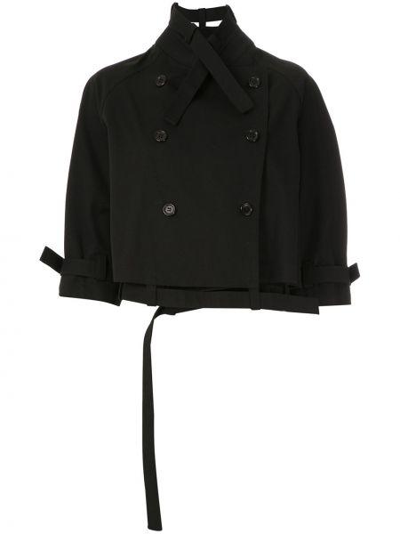 Черное пальто Gloria Coelho