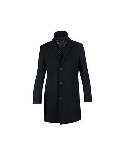 Черное пальто осеннее Strellson