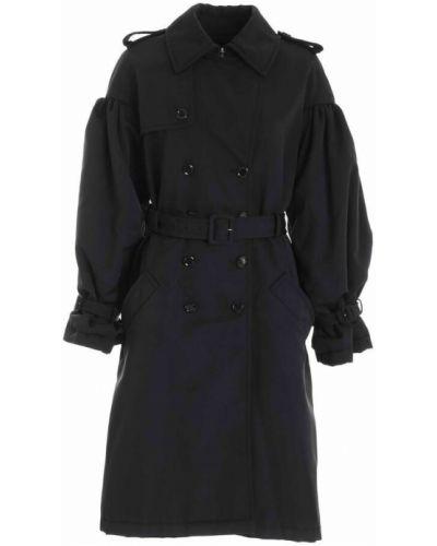 Czarny płaszcz przeciwdeszczowy Moschino