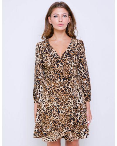 Платье с запахом с оборками на молнии Grandua