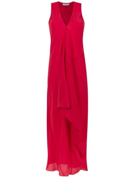 Красное платье на молнии без рукавов свободного кроя Mara Mac