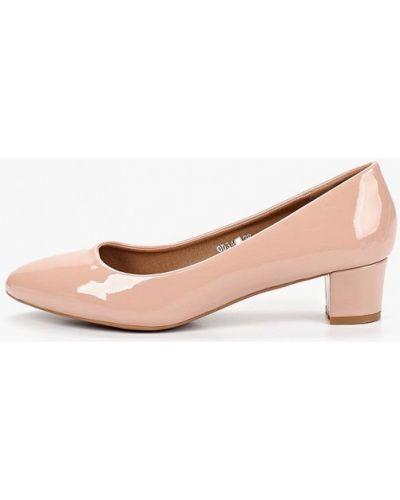 Туфли на каблуке кожаные розовый Catisa