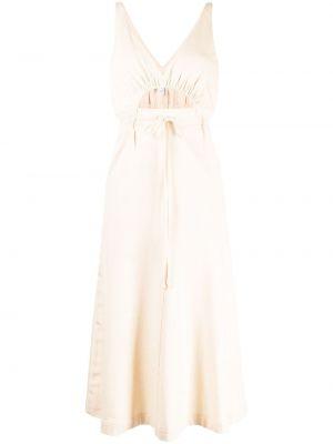 Коричневое прямое платье с поясом Alice Mccall