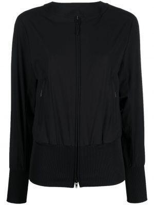 Хлопковая ватная черная длинная куртка Y-3
