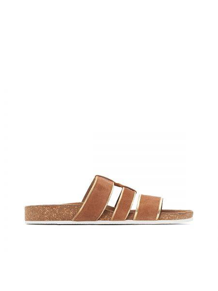 Кожаные туфли с открытой пяткой Castaluna