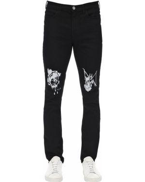 Czarne jeansy z paskiem z printem Mjb Marc Jacques Burton