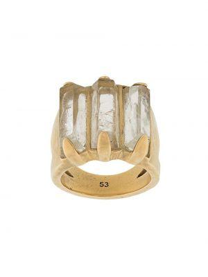 Золотистое кольцо золотое Goossens