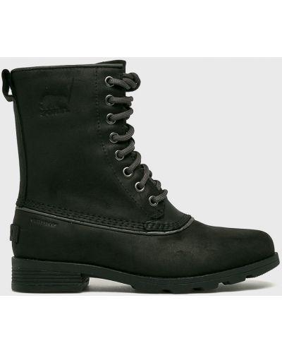 Ботинки на шнуровке кожаные теплые Sorel