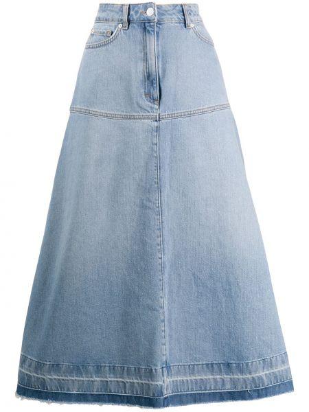 Джинсовая юбка - синяя Escada Sport