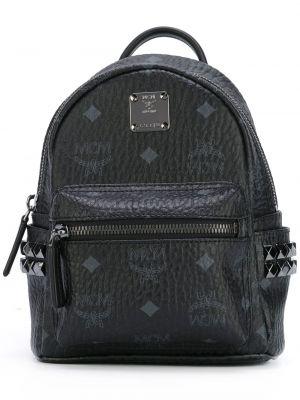 Рюкзак с принтом - черный Mcm