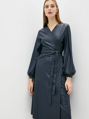 Кожаное платье - синее Max&co