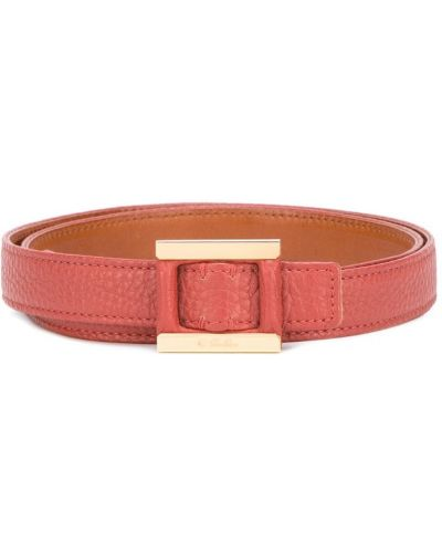 Красный ремень кожаный Loro Piana