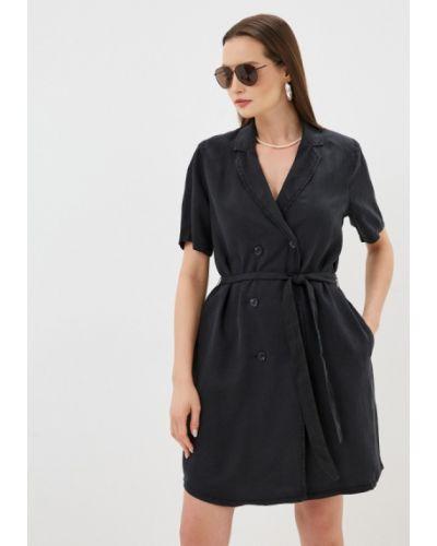 Черное платье с запахом Ichi