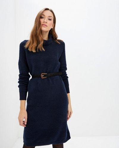 Платье осеннее синее Selected Femme