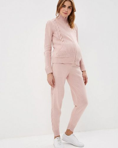 Костюм вязаный розовый мамуля красотуля ..в ожидании чуда