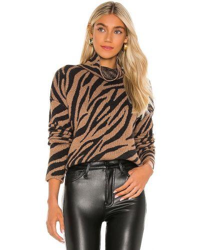Ватный коричневый шерстяной свитер Pam & Gela