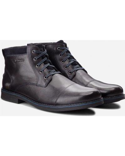Ботинки на каблуке - черные Lasocki