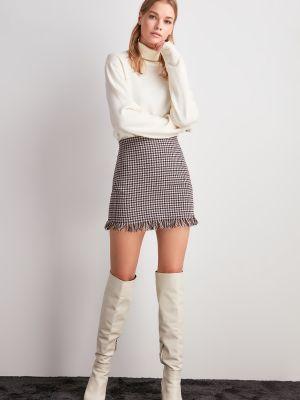 Fioletowa spódnica z akrylu Trendyol