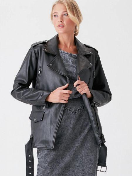 Кожаная куртка черная весенняя Love Republic