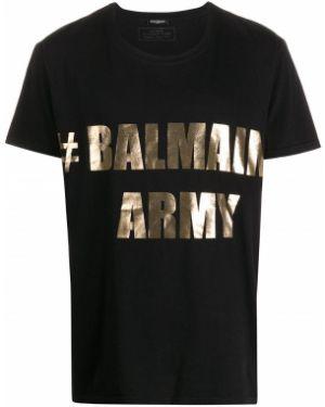 Черная футболка Balmain Pre-owned