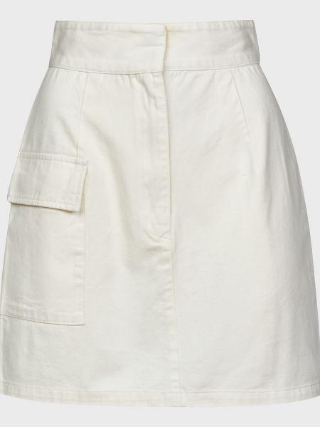 Хлопковая белая юбка на пуговицах The Fifth Label