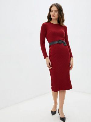 Платье свитер - бордовое Goldrai