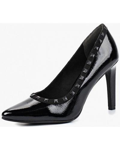 Туфли-лодочки кожаные на каблуке Marco Tozzi