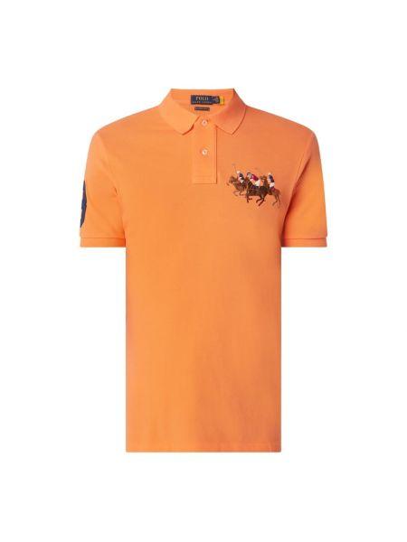 Pomarańczowy bawełna bawełna t-shirt Polo Ralph Lauren