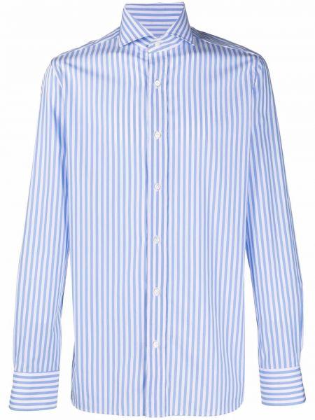 Niebieska koszula bawełniana Borrelli