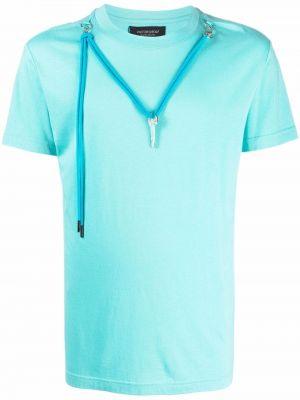 Niebieska koszulka krótki rękaw Viktor & Rolf