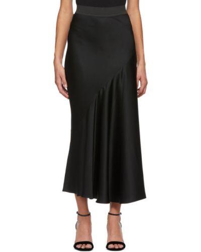 Сатиновая асимметричная черная юбка Haider Ackermann