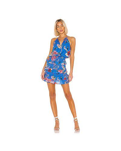 Платье с цветочным принтом с оборками Parker