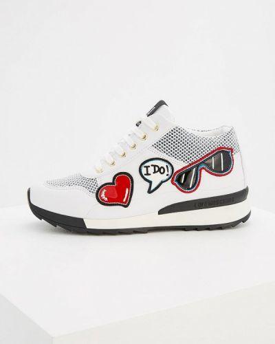 Белые кроссовки Love Moschino