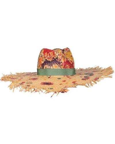 Żółty kapelusz na co dzień oversize Etro