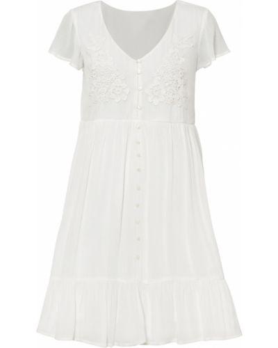 Кружевное белое платье Bonprix